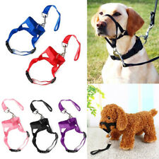 Size S-2XL Dog Muzzle Head Mouth Nose Stop Pulling Halter Training Lead Leash