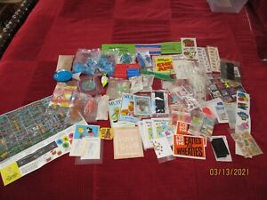 LARGE VINTAGE LOT OF CEREAL BOXES TOY PRIZES GAMES CARDS STICKERS
