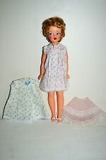 Vintage 1960's Ideal Tammy Doll & Original Tagged Nightgowns Slip & Sandals Lot