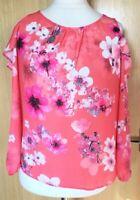 Wallis Ladies Blouse Top 12 Floral Cold Shoulder Petite Summer Holiday