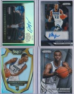 Andrew Wiggins Autograph Auto Jersey Relic Rookie RC Plate 1/1 Silver Prizm Lot