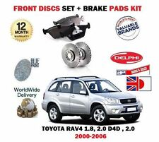 Pour Toyota RAV4 1.8 2.0 2.0DT D4D 2000-2006 Neuf Avant Kit Disque Frein +