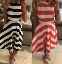 Summer/Beach Party Striped Dresses for Women