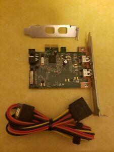 HP HI349-2 Dual Port Firewire Card W/ Cable 631333-001