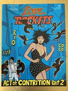 LOVE AND ROCKETS #6 1st Print HTF RARE 1984 Fantagraphics Hernandez Bros Vol. 1