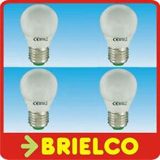 LAMPARA BOMBILLA BAJO CONSUMO FLUORES. LUZ DIA ESFERICA E27 11W 220V 4UDS BD4096
