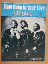 song sheet HOW DEEP IS YOUR LOVE Bee Gees 1977