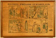 Images d'Epinal : '' Histoire d'Héloise et d'Abélard '' - Vers 1850.