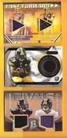 BEN ROETHLISBERGER & LE'VEON BELL ROOKIE JERSEY CARD + ANTONIO BROWN Game Used