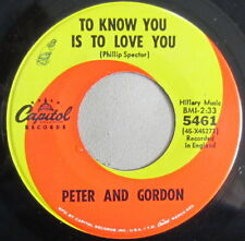 Peter And Gordon - To Know You Is To Love You, Vinyl, 45rpm, 1965, 5461, VG+