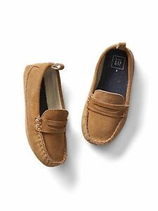 GAP Baby / Toddler Boys Size US 9 EU 26 Tan 100% Suede Leather Loafers Moccasins