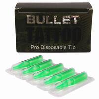 Tattoo Tips 50pcs Sterilized Disposable Tattoo Tube Tip for Tattoo Machine Green