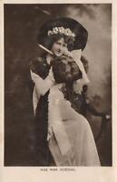 1908 VINTAGE REAL PHOTO MISS NINA SEVENING POSTCARD - sent to Howling