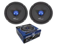 Pair Audiopipe 6 Inch Shallow Mid Full Range Loud Speakers Bullet 4 Ohm 400W