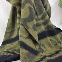 Women Winter Soft warm Wool Cashmere Scarf Shawl wrap 137 Green Olive Black