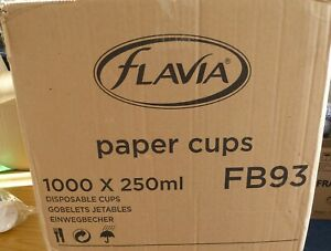 Flavia 9oz Paper Cups 1000 Cups Suitable For Flavia Coffee Machines