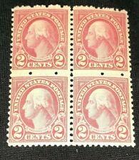 US #634 MNH Full Gum 1928 2c Carmine Type I Block Of 4