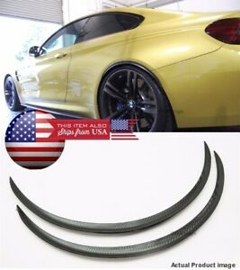 "1 Pair Flexible 1"" Arch Extension Wide Fender Flares Black Carbon Lip For Dodge"