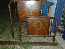 New listing Simmons metal twin bed headboard and footboard with rails.