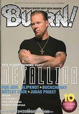 Burrn! Heavy Metal Magazine October 2008 Japan Metallica Judas Priest Slipknot
