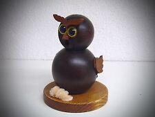 Figura Humeante Fumador búho BUBO BUBO NEGRO 13cm Hecho a mano 40366