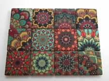 Ceramic Mosaic Tiles - 12 Piece Mixed Set - Decorative Moroccan Mixed Designs
