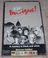 Intrigue! A Mystery in Black and White Apple II Vintage Video Game