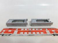 BI305-0,5# 2x H0 Tender-Oberteile (Guss/blank) für Dampfloks; Märklin/Trix?