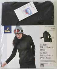 Damen Glitzer Microfleece Rolli Pullover Schwarz Gr. M 40/42 Neu TCM Tchibo