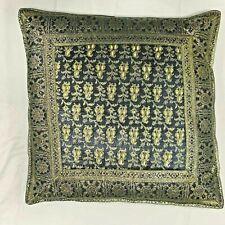 "Blue Cushion Pillow Covers Thread Work Ethnic Vintage Decor 16""X16"""