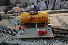 G Scale SHELL GAS STATION - Scratch Built Indoors- LGB PIKO