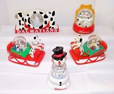 101 Dalmatians Snow Domes / Ornaments~1996 McDonald Toys~Set of 4+Extra Dog Sled