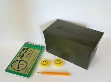 Geocaching Beginner Kit Mini Plastic Ammo Box w Log Book, Pencil, Label & Swag