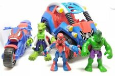 Playskool Heroes Marvel Spider-Man Pull Back & Go Motorcycle Dune Buggy Lizard