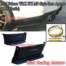MP Style Rear Bumper Aprons (ABS) Fits 15-18 Subaru WRX STi 4dr