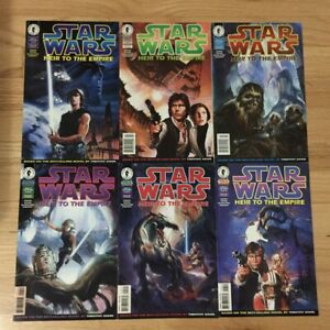 STAR WARS HEIR TO THE EMPIRE #1-6 SET DARK HORSE COMICS 1995 THRAWN MARA JADE