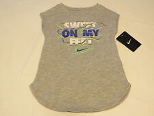 Nike active The Nike TEE t shirt youth girls 4 3-4 years 36A891 042 grey  NWT^^