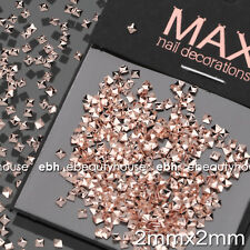 200 Pcs Rose Gold Metal Nail Art Studs Decorations Accessories #E1167