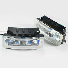"""Universal 5 x 1.75"""" Square Bumper Driving Clear Fog Light Lamp + Switch & Harnes"""