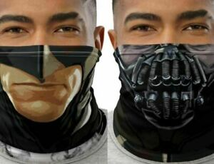 Bane + Batman Adult Upside Down Neck Gaiter Face Mask