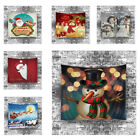Snowman Christmas Xmas Tapestry Hippie Room Bedspread Wall Hanging Throw Blanket
