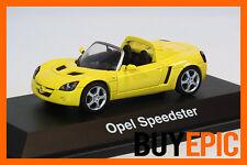 Schuco 1:43 Opel Speedster 2.2,Vauxhall VX220,jaune,jaune,Maquette de voiture,