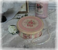 "~ Victorian ~ Wooden~Vintage~Shabby~Chic Decor~JEWELRY BOX~ ""Faded Roses..."" ~"
