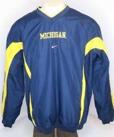 VTG 90s 00s Nike Windbreaker Pullover Mens Sz L MICHIGAN Wolverines UofM College