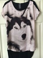New Plus sizes NEXT / Jane Norman / Topshop /  Branded print top - Size 6 - 18