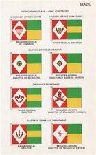 BRAZIL ARMY FLAGS. Paratroops Military Service Ordnance Adjutanta general 1958