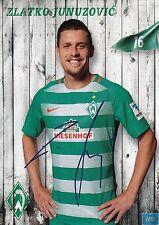 Zlatko Junuzovic (16) + Werder Bremen + Saison 2016/2017 + Autogrammkarte +