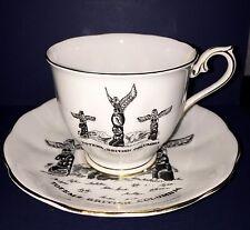 Vintage TOTEM WARE By Royal Albert Bone China Cup & Saucer British Columbia