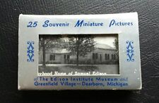 Rare Edison Institute Museum and Greenfield Village-Dearborn Michigan Card Set