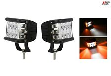 2x 12/24v Cube Strobe Flashing Flash 12 Led Work Lights Triple Side Shooter Lamp